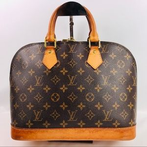 Authentic Louis Vuitton Alma Monogram Handbag